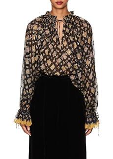 Ulla Johnson Women's Nailah Silk-Blend Fil Coupé Blouse