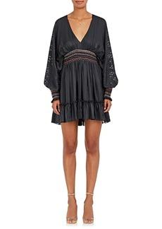 Ulla Johnson Women's Odette Smocked Silk Minidress
