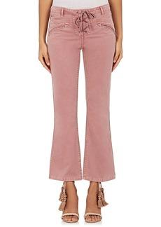 Ulla Johnson Women's Patria Lace-Up Jeans