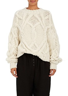 Ulla Johnson Women's Pilar Cable-Knit Wool Sweater