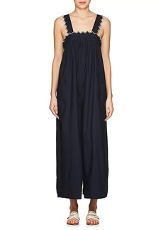 Ulla Johnson Women's Rafaella Embroidered Cotton Poplin Jumpsuit