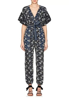 Ulla Johnson Women's Reiko Floral Cotton Jumpsuit