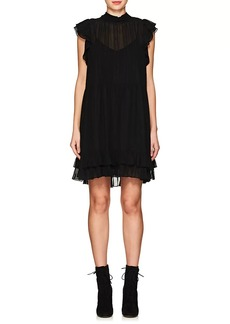 Ulla Johnson Women's Remy Floral-Embroidered Silk Dress