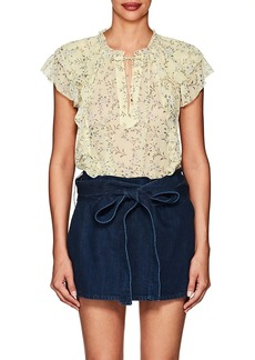 Ulla Johnson Women's Rooney Floral Silk Blouse