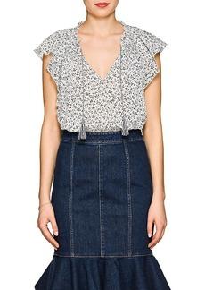 0976babf9ab59 Ulla Johnson Women s Sigrid Floral Cotton Top