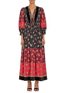 Ulla Johnson Women's Suzana Floral-Print Cotton Peasant Dress