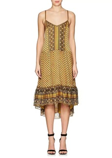 Ulla Johnson Women's Talin Silk Tiered Midi-Dress