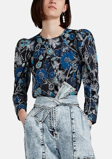 Ulla Johnson Women's Terese Floral Cotton-Blend Blouse