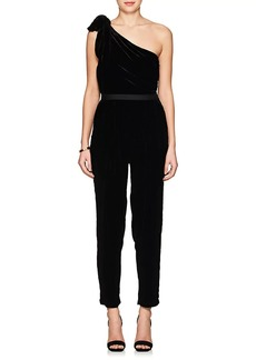 Ulla Johnson Women's Tess Silk-Blend Velvet One-Shoulder Jumpsuit