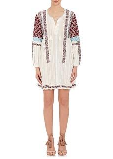 Ulla Johnson Women's Yelena Cotton Gauze Embroidered Tunic Dress