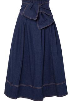 Ulla Johnson Virgil Belted Denim Midi Skirt
