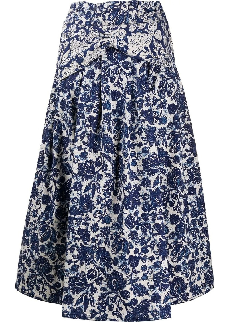Ulla Johnson Virgil floral-print denim skirt