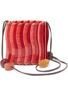 Ulla Johnson Yadira Beaded Acrylic Shoulder Bag