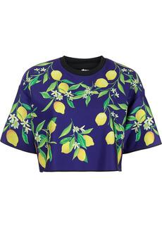 Ultracor lemon-print cropped T-shirt