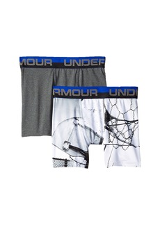 Under Armour 2-Pack Basketball Sublimation Boxer (Big Kids)