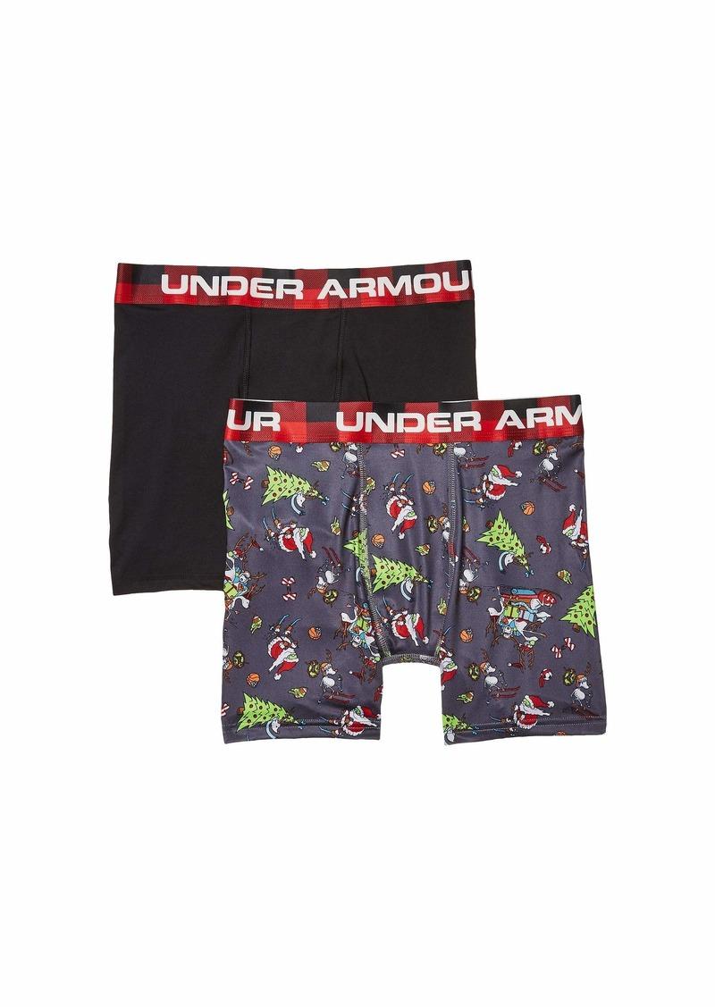 Under Armour 2-Pack Let It Powder Boxer (Big Kids)