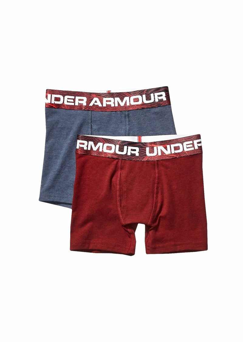 Under Armour 2-Pack Mapped Boxer Set (Big Kids)