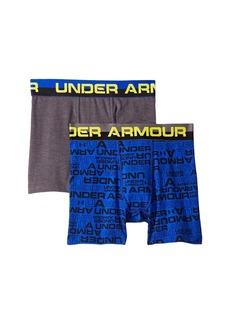 Under Armour 2-Pack Wordmark Cotton Boxer Set (Big Kids)