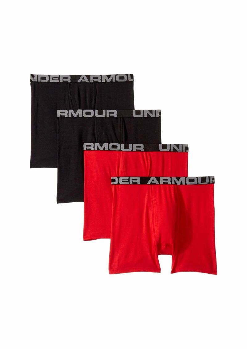 Under Armour 4-Pack Core Cotton Boxer Set (Big Kids)