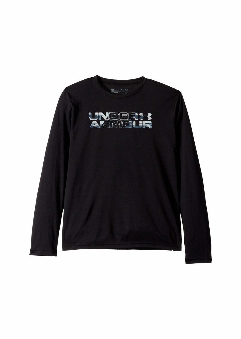 Under Armour Big Logo Print Fill Long Sleeve (Big Kids)