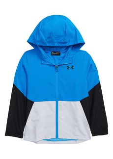 Boy's Under Armour Kids' Ua Legacy Colorblock Zip-Up Hooded Jacket
