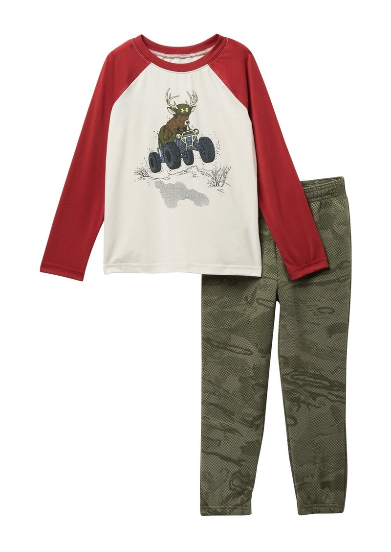 Under Armour Deer Buggy Raglan Tee & Pants 2-Piece Set (Toddler Boys)