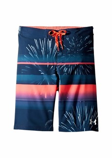 Under Armour Dynomite 1/2 Back Elastic Boardshorts (Big Kids)