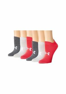 Under Armour Essential 2.0 No Show Socks 6-Pair