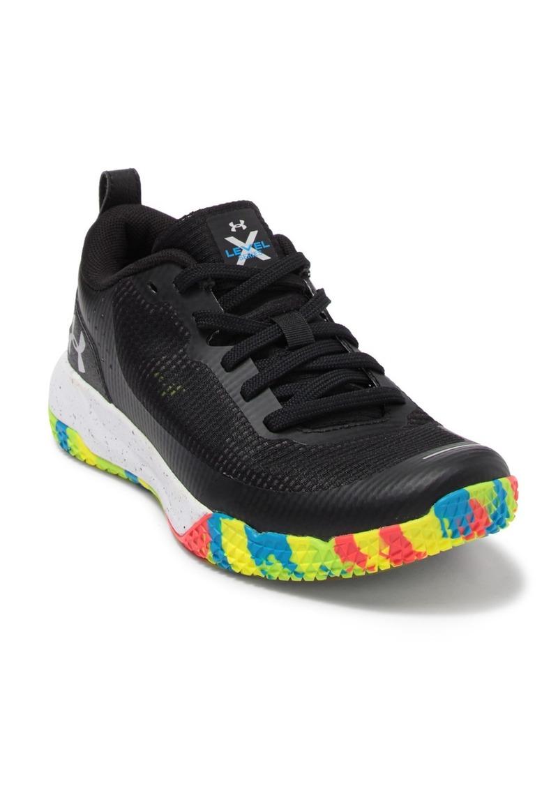 Under Armour Grade School x Level Mainshock Sneaker (Big Kid)