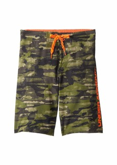 Under Armour Grit 1/2 Back Elastic Boardshorts (Big Kids)