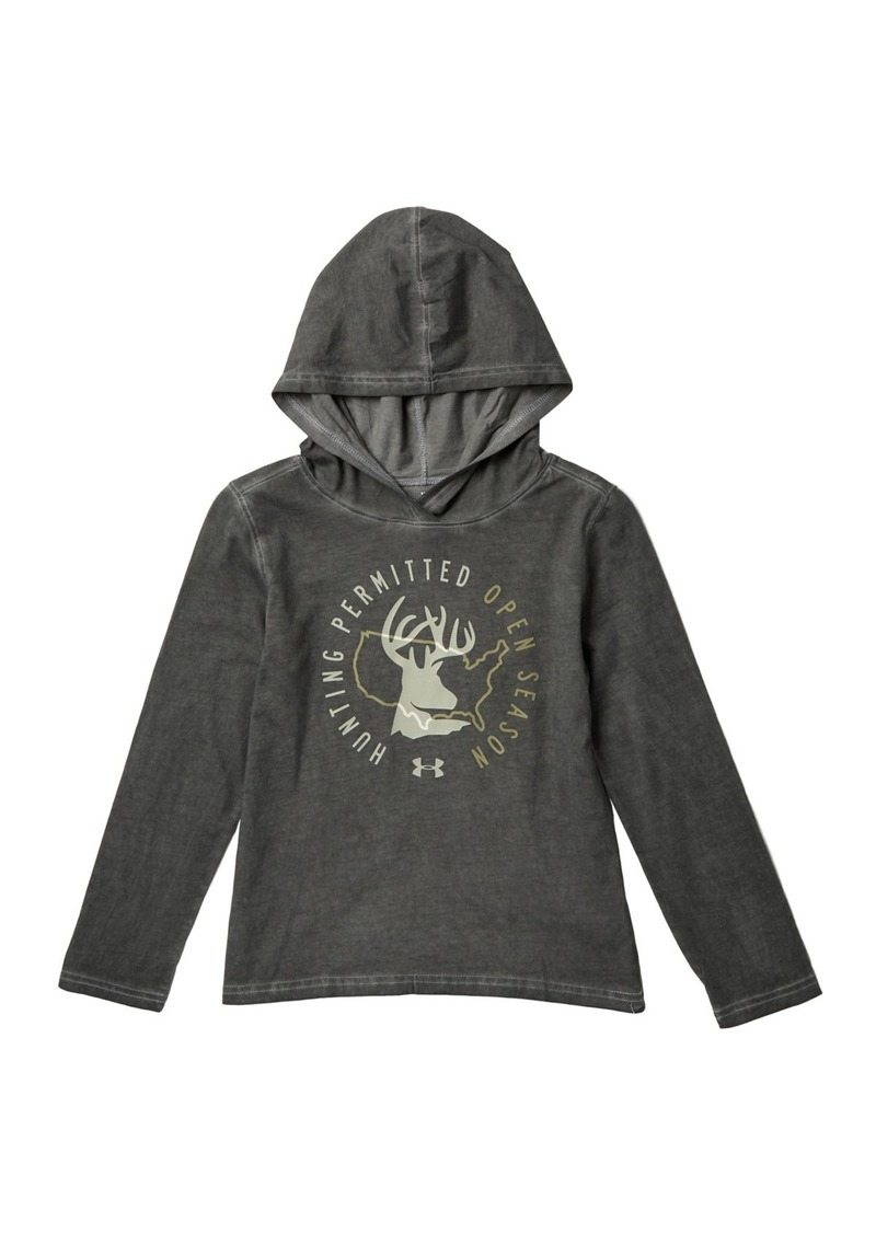 Under Armour Hunting Permitted Hooded Long Sleeve Tee (Big Boys)
