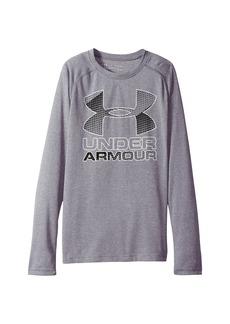 Under Armour Hybrid Big Logo Long Sleeve Tee (Big Kids)