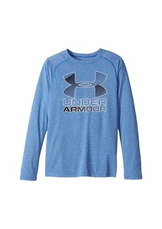Under Armour Hybrid Big Logo Long Sleeve Tee (Big Kids)