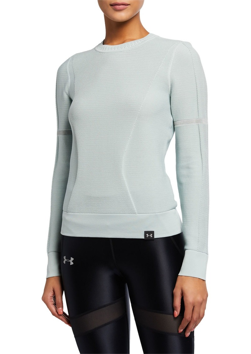 Under Armour IntelliKnit Phantom Knit Long-Sleeve Active Top