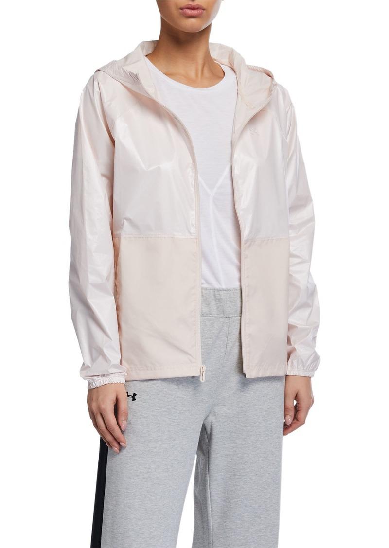 Under Armour Metallic Woven Front-Zip Jacket