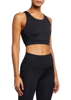 Under Armour Misty Longline Sport Bra  Black