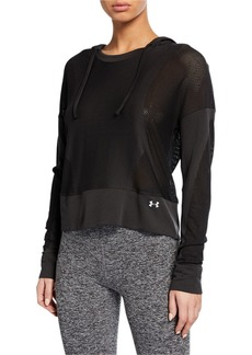 Under Armour Move Light Cropped Mesh Pullover Hoodie