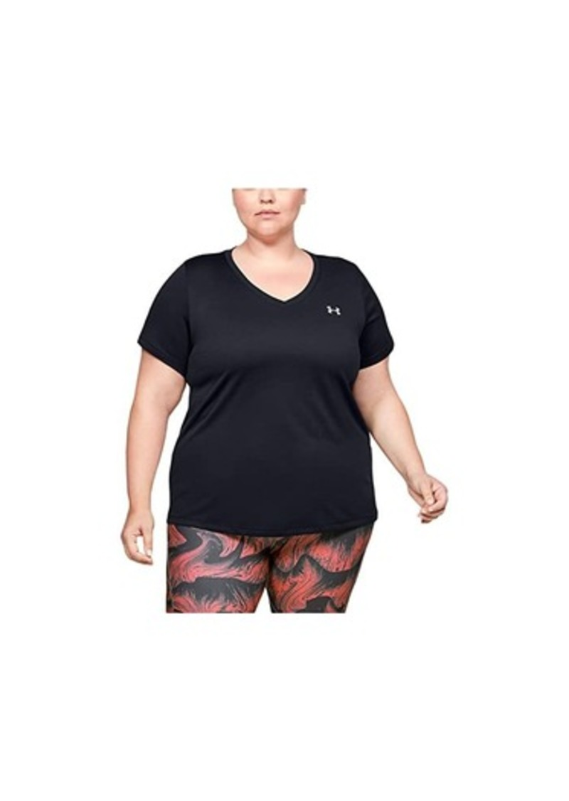 Under Armour Plus Size Tech Solid Short Sleeve V-Neck
