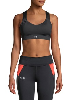 Under Armour Powerprint Mid-Impact Sports Bra