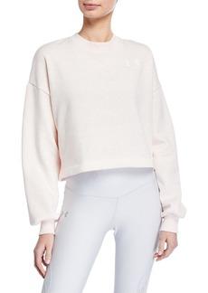 Under Armour Rival Fleece Graphic LC Crewneck Sweatshirt  Pink