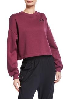Under Armour Rival Fleece Graphic LC Crewneck Sweatshirt  Purple