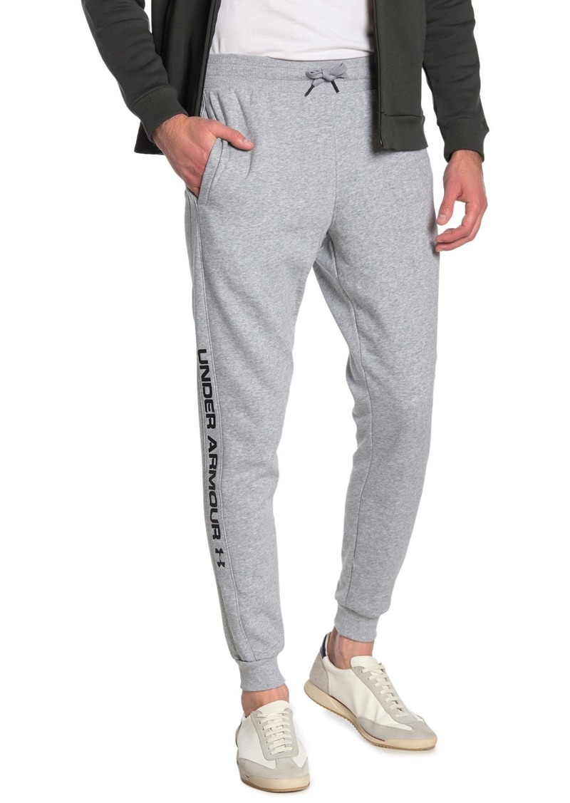 Under Armour Rival Fleece Wordmark Logo Track Pants