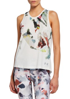 Under Armour Run Tie-Back Printed Tank