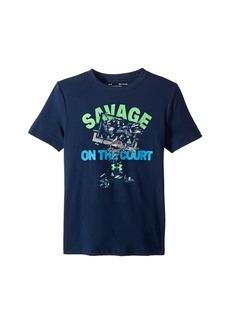 Under Armour Savage on The Court Short Sleeve Tee (Big Kids)