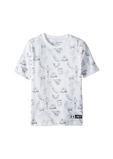 Under Armour Steph Curry 30 Printed Short Sleeve Tee (Big Kids)