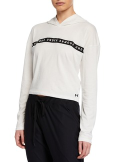 Under Armour Taped Logo Cropped Active Hoodie