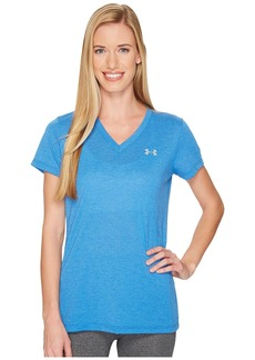 Under Armour Threadborne Train Short Sleeve V-Neck Heather Top