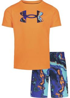 Under Armour Little Boys Heatmap T-shirt and Swim Shorts Set