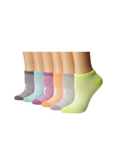 Under Armour UA  Solid 6-Pack No Show (Big Kid)