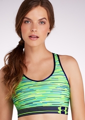Under Armour + Armour Mid Control Printed Sports Bra